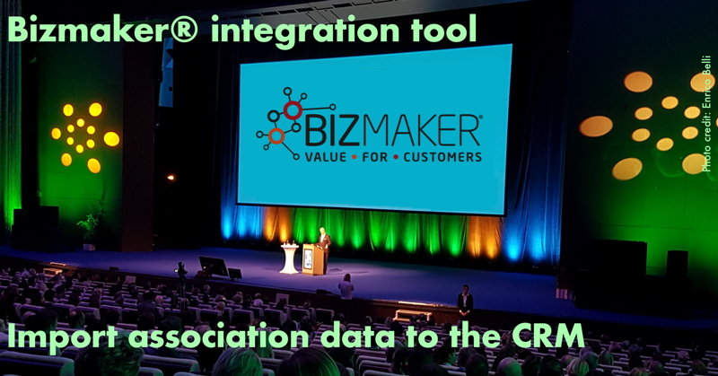 import association data into the crm software