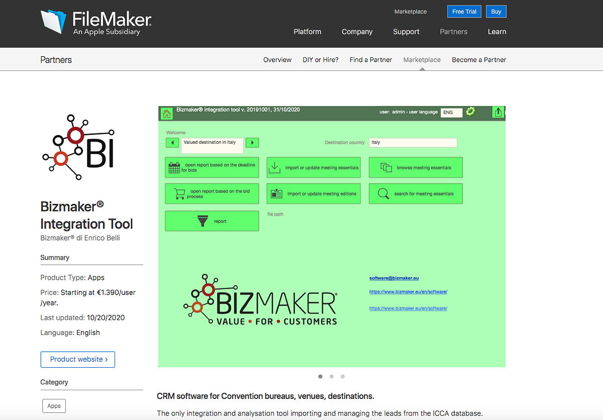 We are in the FileMaker Marketplace